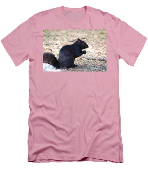 Black Squirrel Of Central Park Men's T-Shirt (Slim Fit) by Sarah McKoy