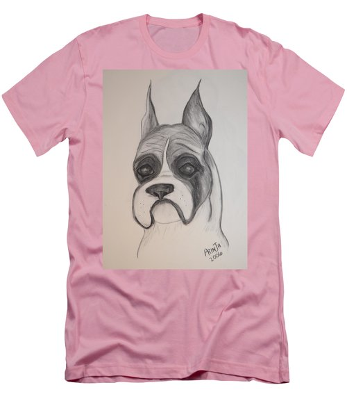 Men's T-Shirt (Slim Fit) featuring the drawing Boxer by Maria Urso