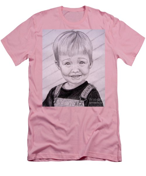 Men's T-Shirt (Slim Fit) featuring the drawing Brady by Julie Brugh Riffey