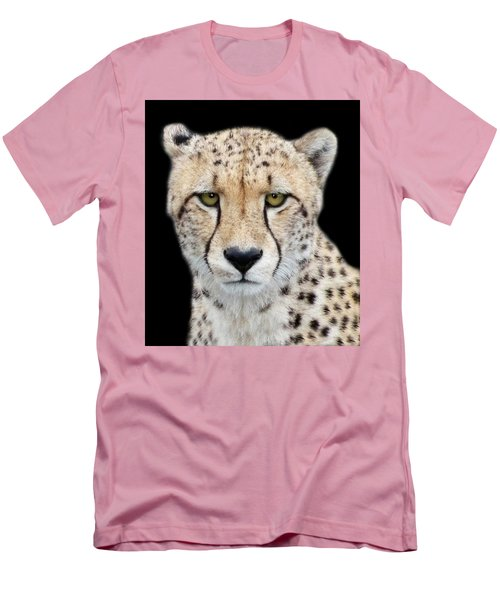 Men's T-Shirt (Slim Fit) featuring the photograph Cheetah by Lynn Bolt