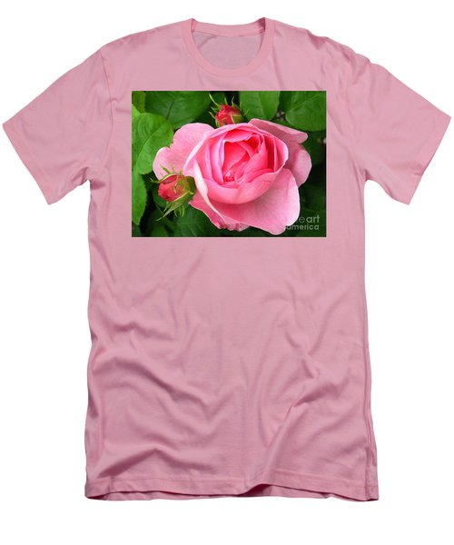 Rose And Rose Buds Men's T-Shirt (Athletic Fit)