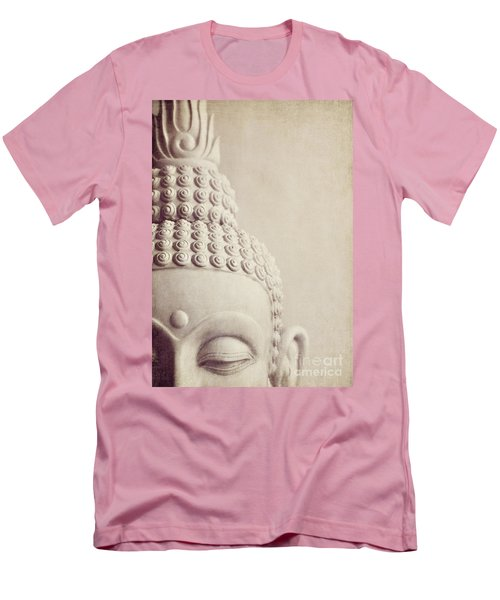 Cropped Stone Buddha Head Statue Men's T-Shirt (Athletic Fit)