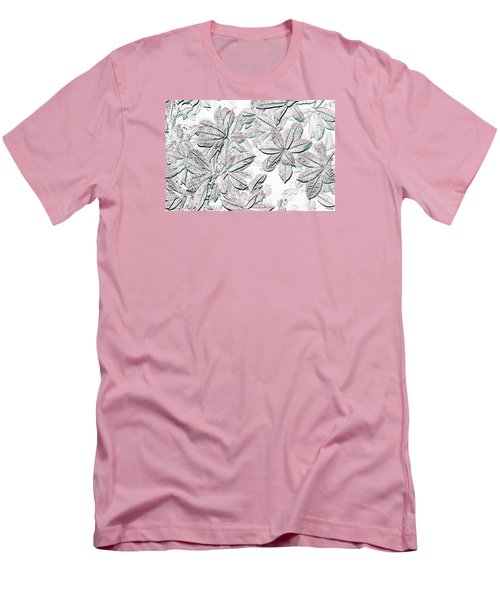 Men's T-Shirt (Slim Fit) featuring the photograph Embossed Crotons by Tom Wurl