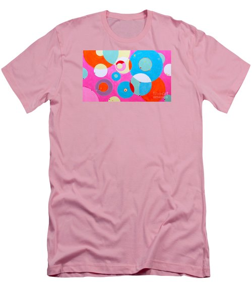 Men's T-Shirt (Slim Fit) featuring the painting Girl by Beth Saffer