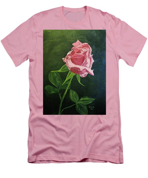 Men's T-Shirt (Slim Fit) featuring the painting Kiss Of The Morning Sun 2 by Wendy Shoults