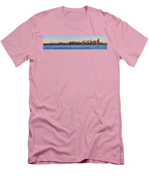 Northwest Jewel - Seattle Skyline Cityscape Men's T-Shirt (Athletic Fit)