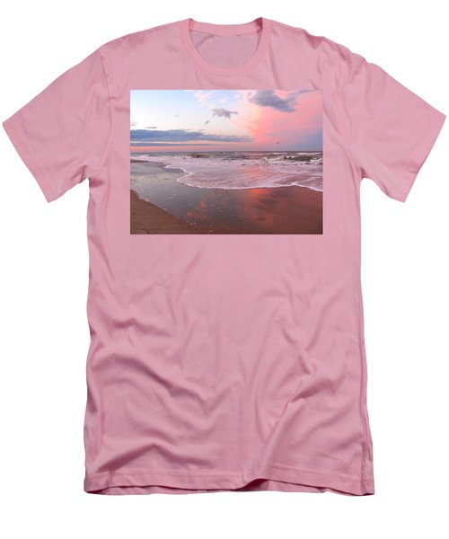 Pink Beach Men's T-Shirt (Athletic Fit)