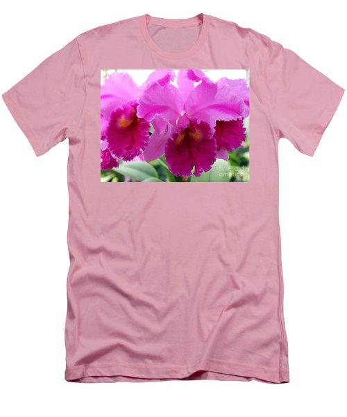 Men's T-Shirt (Slim Fit) featuring the photograph Purple Explosion by Debbie Hart