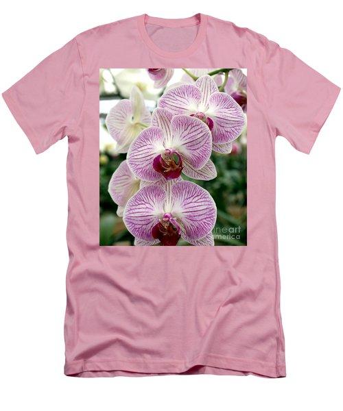 Men's T-Shirt (Slim Fit) featuring the photograph Purple Orchids by Debbie Hart
