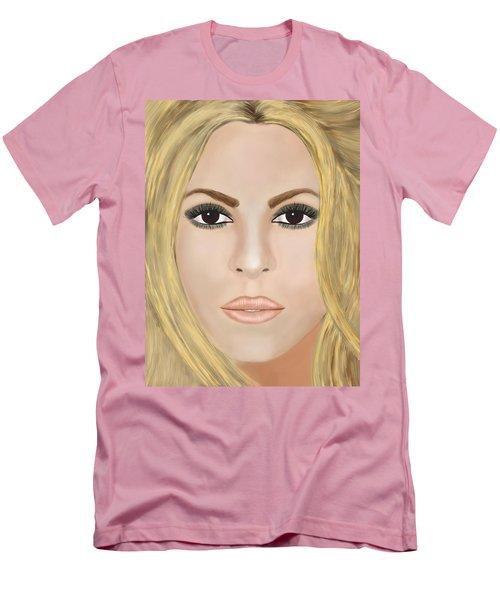 Shakira Men's T-Shirt (Slim Fit) by Mathieu Lalonde