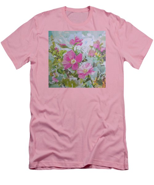 Shrub Roses Men's T-Shirt (Athletic Fit)