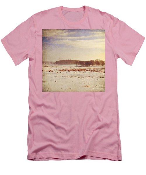 Snowy Landscape Men's T-Shirt (Slim Fit) by Lyn Randle