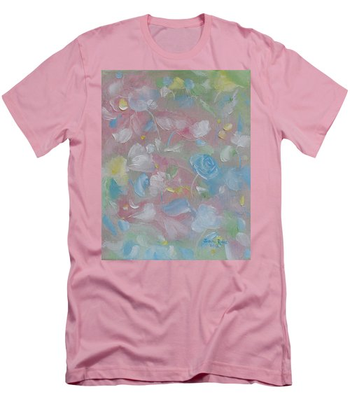 Men's T-Shirt (Slim Fit) featuring the painting Softly Spoken by Judith Rhue