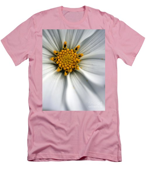 Men's T-Shirt (Slim Fit) featuring the photograph Sonata Cosmos White by Henrik Lehnerer