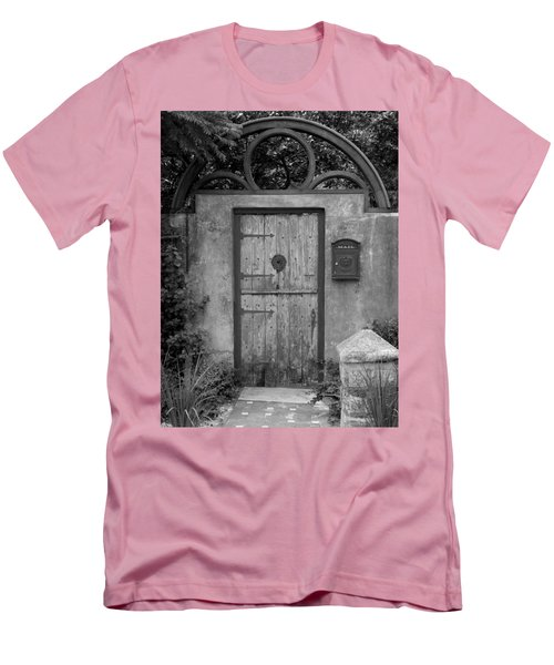 Spanish Renaissance Courtyard Door Men's T-Shirt (Athletic Fit)