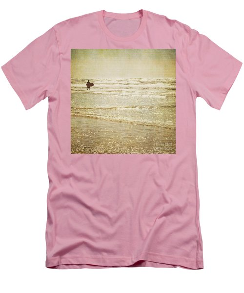 Surf The Sea And Sparkle Men's T-Shirt (Slim Fit) by Lyn Randle