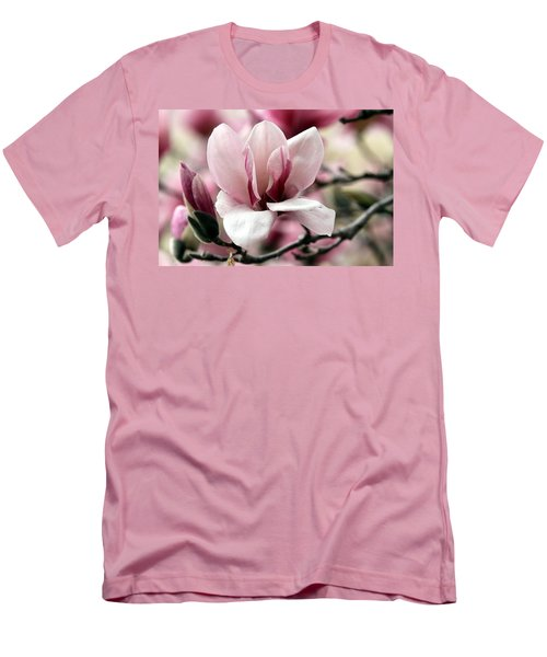 Men's T-Shirt (Slim Fit) featuring the photograph Sweet Magnolia by Elizabeth Winter