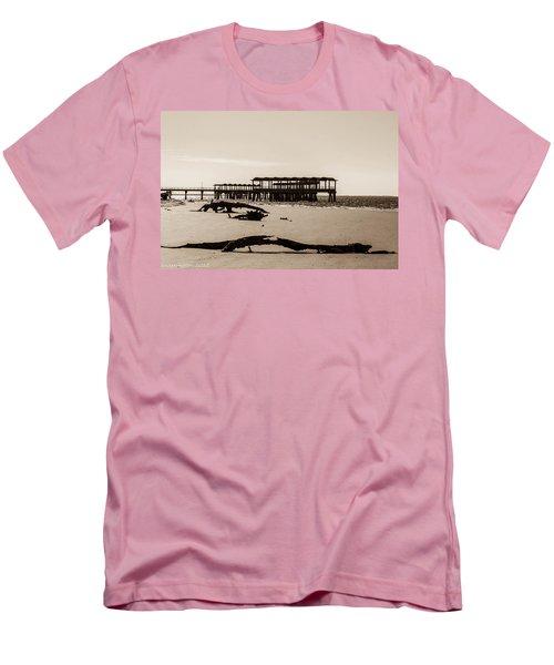 Men's T-Shirt (Slim Fit) featuring the photograph The Pier by Shannon Harrington