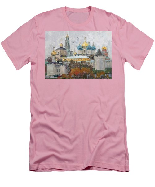Trinity-st. Sergius Lavra Men's T-Shirt (Athletic Fit)