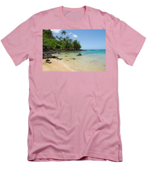 Tropical Paradise Men's T-Shirt (Slim Fit) by Lynn Bauer