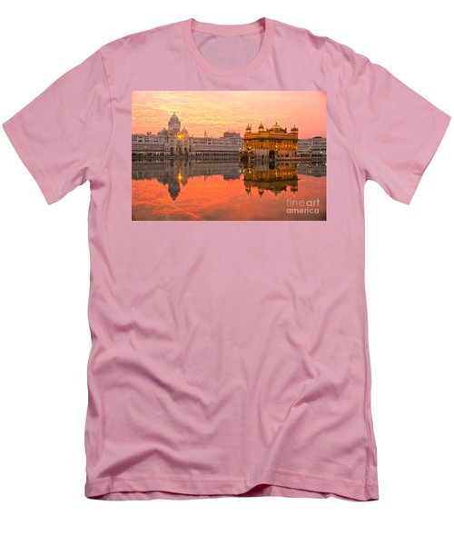 Golden Temple Men's T-Shirt (Slim Fit) by Luciano Mortula