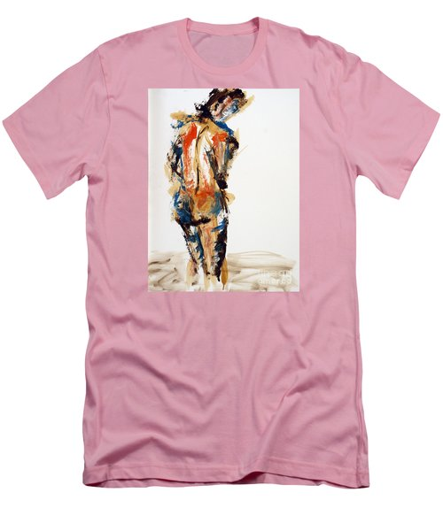 04855 No Regrets Men's T-Shirt (Slim Fit) by AnneKarin Glass