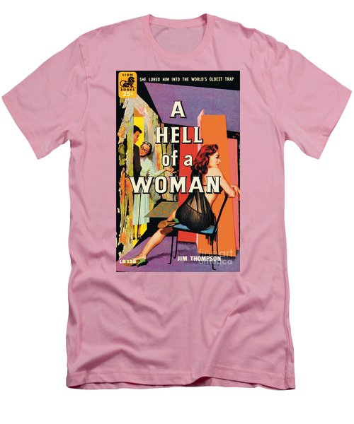 Men's T-Shirt (Slim Fit) featuring the painting A Hell Of A Woman by Morgan Kane