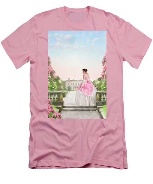 Beautiful Victorian Woman In The Garden Men's T-Shirt (Athletic Fit)