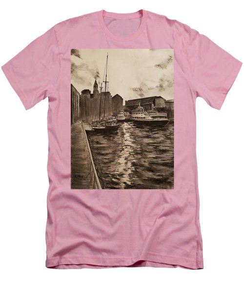 Boston Harbor Men's T-Shirt (Slim Fit) by Rose Wang