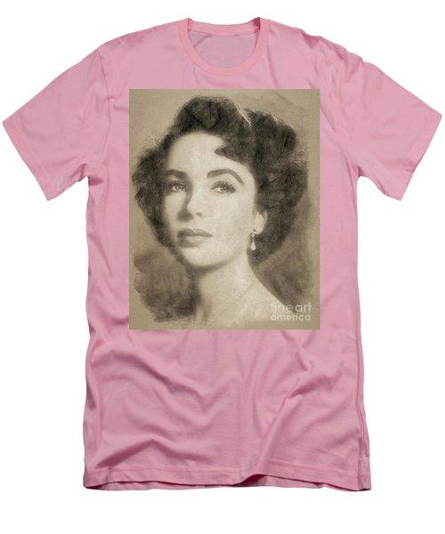 Elizabeth Taylor Hollywood Actress Men's T-Shirt (Slim Fit) by John Springfield
