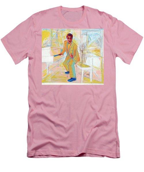 Elton John Men's T-Shirt (Slim Fit) by Martin Cohen