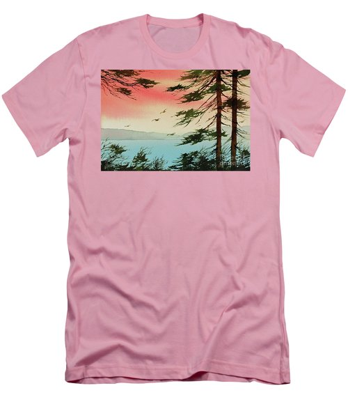 Men's T-Shirt (Slim Fit) featuring the painting Evening Light by James Williamson