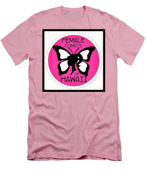 Female Comics Of Hawaii Men's T-Shirt (Slim Fit) by Erika Swartzkopf