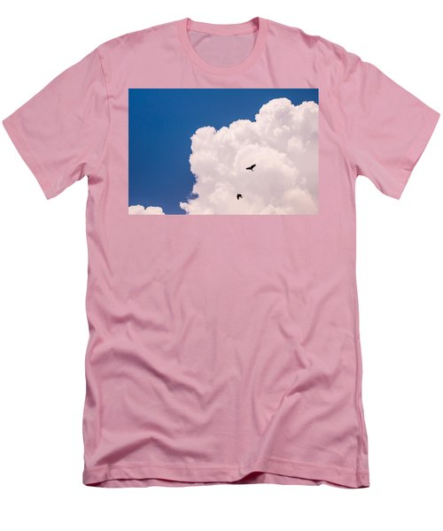 Men's T-Shirt (Athletic Fit) featuring the photograph Flying Free by Jenny Rainbow