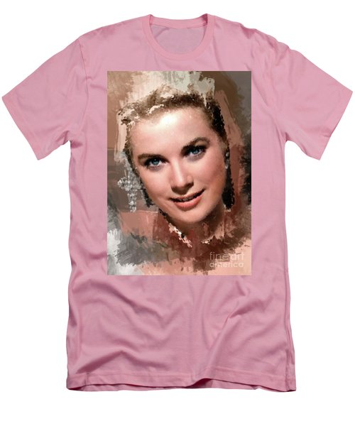Grace Kelly, Vintage Hollywood Actress Men's T-Shirt (Slim Fit) by Mary Bassett