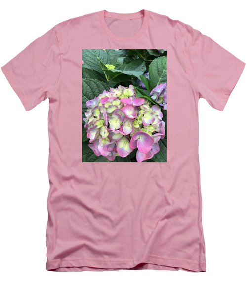 Hydrangea Men's T-Shirt (Slim Fit) by Kay Gilley