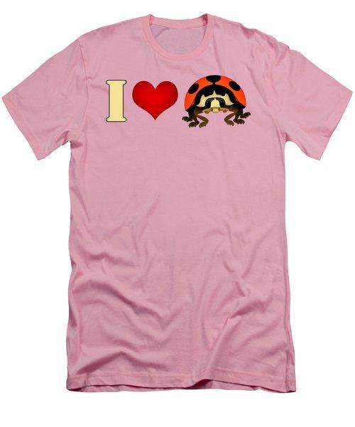 I Love Ladybugs Men's T-Shirt (Athletic Fit)