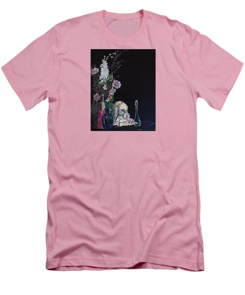 Men's T-Shirt (Slim Fit) featuring the painting Jenibelle by Jane Autry