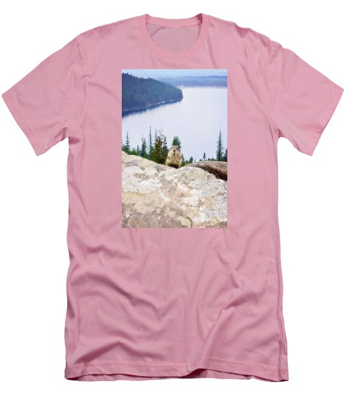 Men's T-Shirt (Slim Fit) featuring the photograph On Top Of The World by Janie Johnson