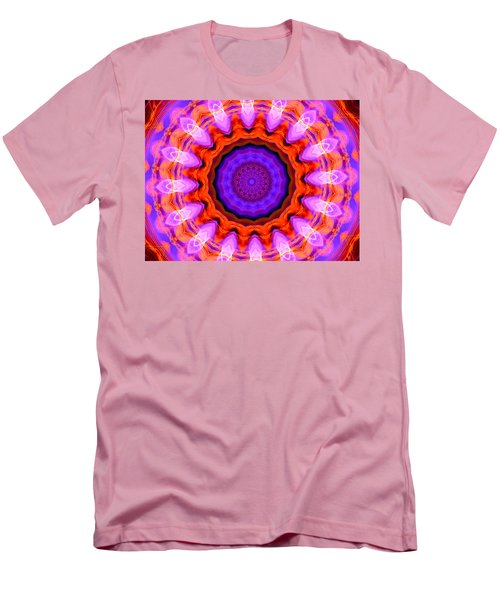 Pink 16-petals Kaleidoscope Men's T-Shirt (Athletic Fit)