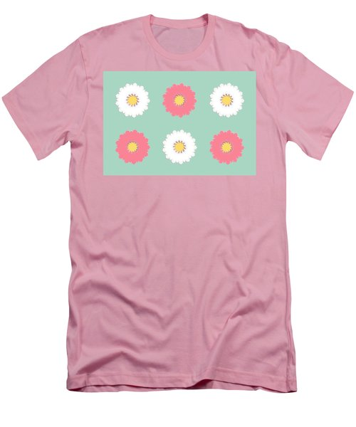 Men's T-Shirt (Athletic Fit) featuring the digital art Pink And White by Elizabeth Lock