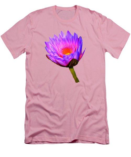 Pink Water Lily Men's T-Shirt (Slim Fit) by Pamela Walton