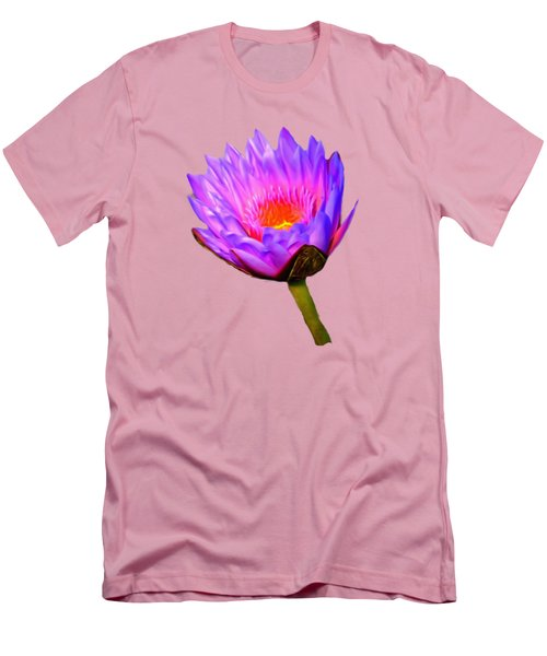 Pink Water Lily Men's T-Shirt (Athletic Fit)