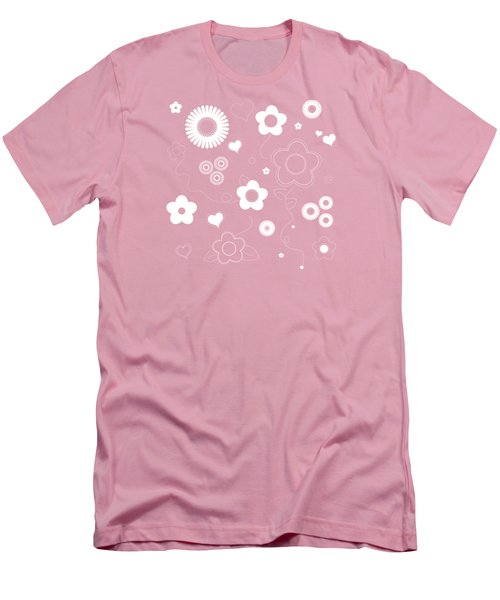 Playful Flower Background Men's T-Shirt (Athletic Fit)
