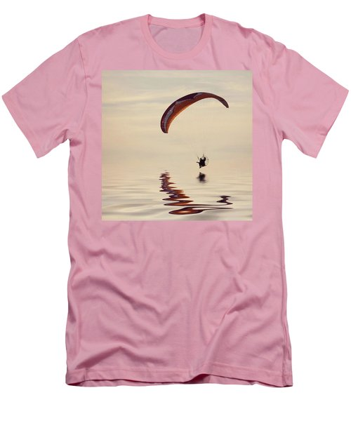 Powered Paraglider Men's T-Shirt (Slim Fit) by John Edwards