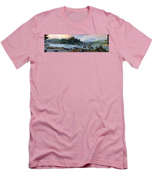 Rhinefalls, Switzerland Men's T-Shirt (Slim Fit) by Elenarts - Elena Duvernay photo