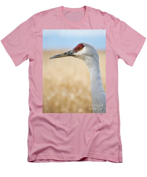 Sandhill Crane Men's T-Shirt (Slim Fit) by Chris Dutton
