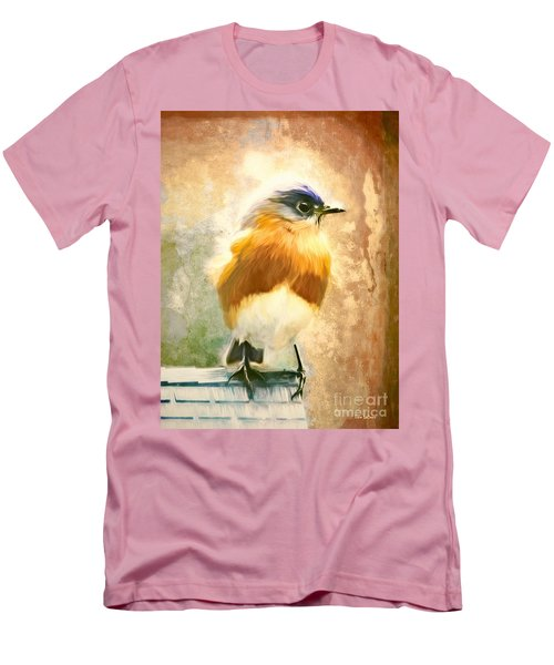 Strapping Bluebird Men's T-Shirt (Slim Fit) by Tina LeCour