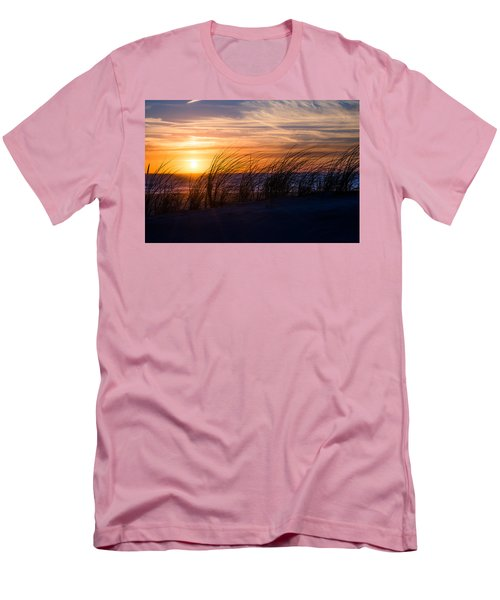 Men's T-Shirt (Slim Fit) featuring the photograph sunset at the North Sea by Hannes Cmarits
