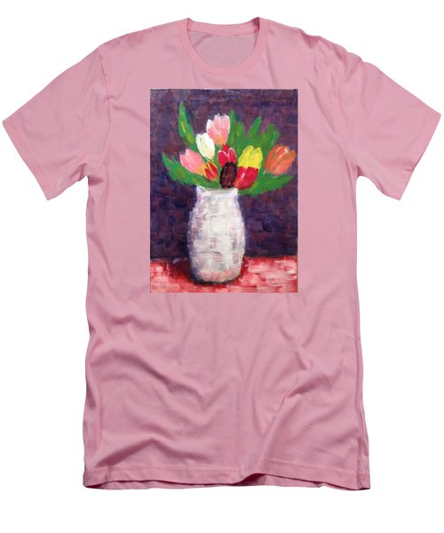 Tulips Men's T-Shirt (Slim Fit) by Tamara Savchenko